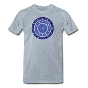 Men's Circle of Fifths T-Shirt - heather ice blue