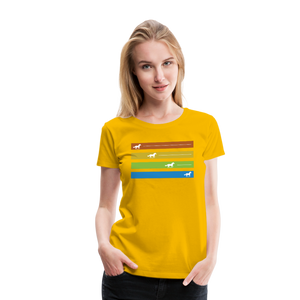 Women's Equine Movement T-Shirt - sun yellow