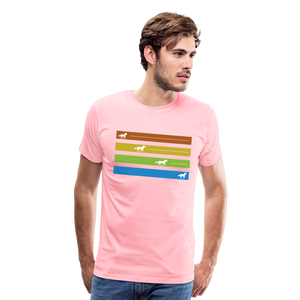 Men's Equine Movement T-Shirt - pink