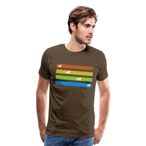 Men's Equine Movement T-Shirt - noble brown