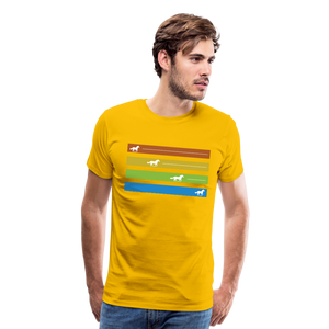 Men's Equine Movement T-Shirt - sun yellow