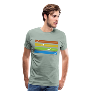 Men's Equine Movement T-Shirt - steel green