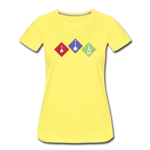 Women's Diamond Bluegrass T-Shirt - sun yellow