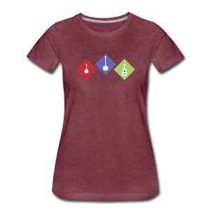 Women's Diamond Bluegrass T-Shirt - heather burgundy
