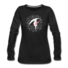 Load image into Gallery viewer, Women's When the Rain Comes Long Sleeve T-Shirt - black
