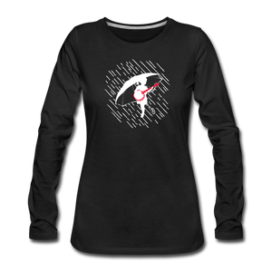 Women's When the Rain Comes Long Sleeve T-Shirt - black