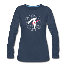 Load image into Gallery viewer, Women's When the Rain Comes Long Sleeve T-Shirt - navy