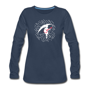 Women's When the Rain Comes Long Sleeve T-Shirt - navy