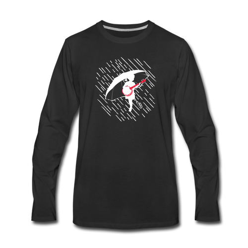 Men's When the Rain Comes Long Sleeve T-Shirt - black