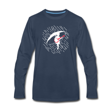 Load image into Gallery viewer, Men's When the Rain Comes Long Sleeve T-Shirt - navy
