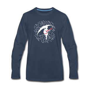 Men's When the Rain Comes Long Sleeve T-Shirt - navy