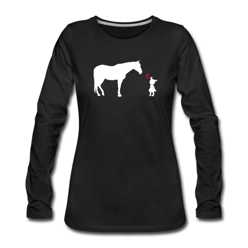 Women's First True Love Long Sleeve T-Shirt - black