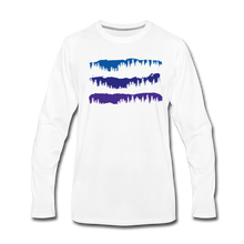Load image into Gallery viewer, Men's Blue Mountain Trees Long Sleeve T-Shirt - white