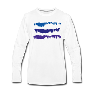 Men's Blue Mountain Trees Long Sleeve T-Shirt - white