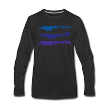 Load image into Gallery viewer, Men's Blue Mountain Trees Long Sleeve T-Shirt - black