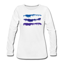 Load image into Gallery viewer, Women's Blue Mountain Trees Long Sleeve T-Shirt - white