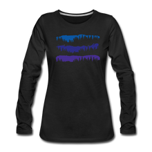 Load image into Gallery viewer, Women's Blue Mountain Trees Long Sleeve T-Shirt - black