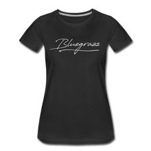 Load image into Gallery viewer, Women's Signed Bluegrass T-Shirt - black