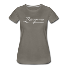 Load image into Gallery viewer, Women's Signed Bluegrass T-Shirt - asphalt gray