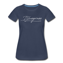 Load image into Gallery viewer, Women's Signed Bluegrass T-Shirt - navy