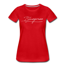 Load image into Gallery viewer, Women's Signed Bluegrass T-Shirt - red