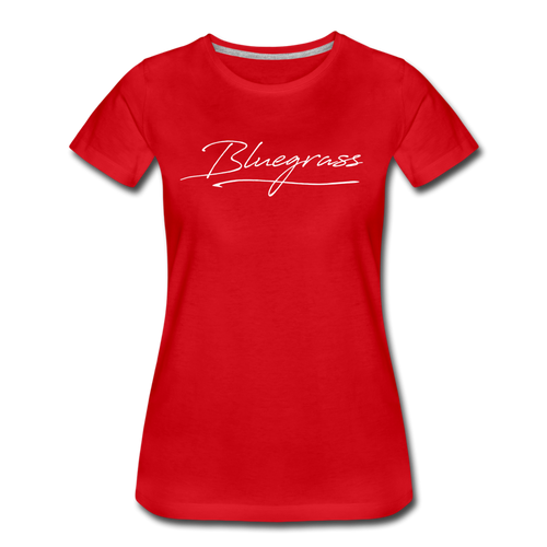 Women's Signed Bluegrass T-Shirt - red