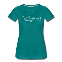 Load image into Gallery viewer, Women's Signed Bluegrass T-Shirt - teal