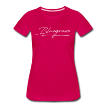 Load image into Gallery viewer, Women's Signed Bluegrass T-Shirt - dark pink