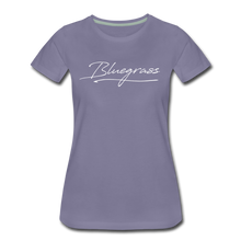 Load image into Gallery viewer, Women's Signed Bluegrass T-Shirt - washed violet