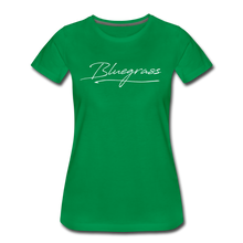Load image into Gallery viewer, Women's Signed Bluegrass T-Shirt - kelly green