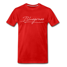 Load image into Gallery viewer, Men's Signed Bluegrass T-Shirt - red