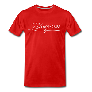 Men's Signed Bluegrass T-Shirt - red