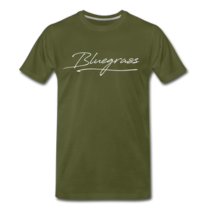Men's Signed Bluegrass T-Shirt - olive green