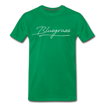 Load image into Gallery viewer, Men's Signed Bluegrass T-Shirt - kelly green