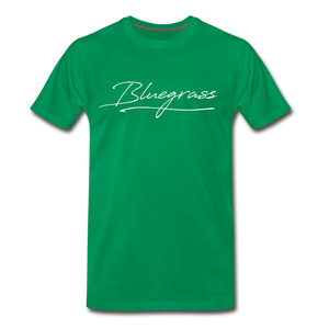 Men's Signed Bluegrass T-Shirt - kelly green
