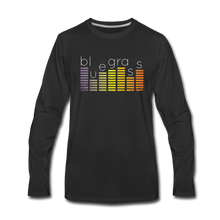 Load image into Gallery viewer, Men's Bluegrass Sound Meter Long Sleeve T-Shirt - black
