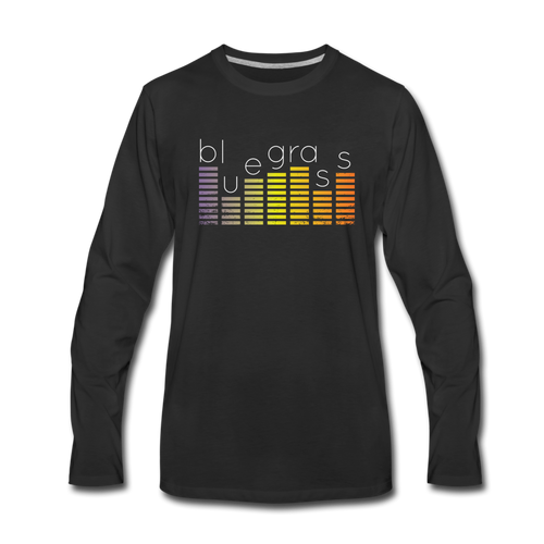 Men's Bluegrass Sound Meter Long Sleeve T-Shirt - black