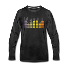 Load image into Gallery viewer, Men's Bluegrass Sound Meter Long Sleeve T-Shirt - charcoal gray