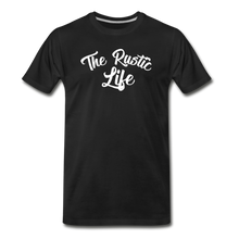 Load image into Gallery viewer, Men's The Rustic Life T-Shirt - black