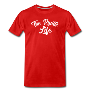 Men's The Rustic Life T-Shirt - red