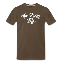 Load image into Gallery viewer, Men's The Rustic Life T-Shirt - noble brown