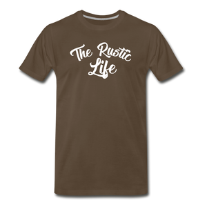 Men's The Rustic Life T-Shirt - noble brown