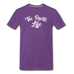 Men's The Rustic Life T-Shirt - purple