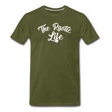 Load image into Gallery viewer, Men's The Rustic Life T-Shirt - olive green