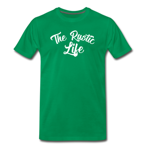 Men's The Rustic Life T-Shirt - kelly green