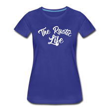 Load image into Gallery viewer, Women's The Rustic Life T-Shirt - royal blue