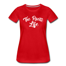Load image into Gallery viewer, Women's The Rustic Life T-Shirt - red