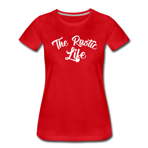 Women's The Rustic Life T-Shirt - red