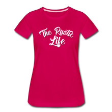 Load image into Gallery viewer, Women's The Rustic Life T-Shirt - dark pink