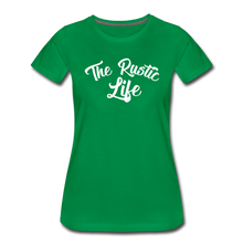 Load image into Gallery viewer, Women's The Rustic Life T-Shirt - kelly green